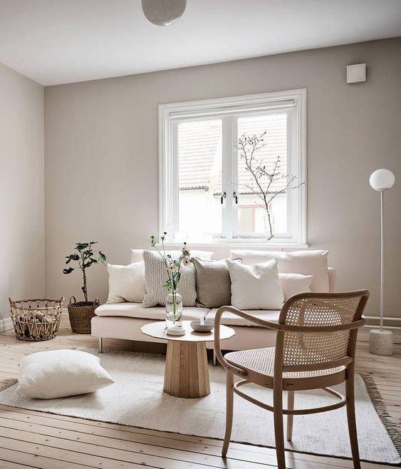 Beige studio home via Coco Lapine Design blog | Möbel