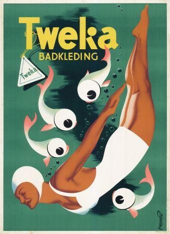Tweka affiche by Frans Mettes (1909-1984)