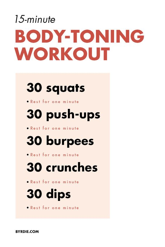 Tone your entire body in 3 weeks with this 15-minute total-body workout
