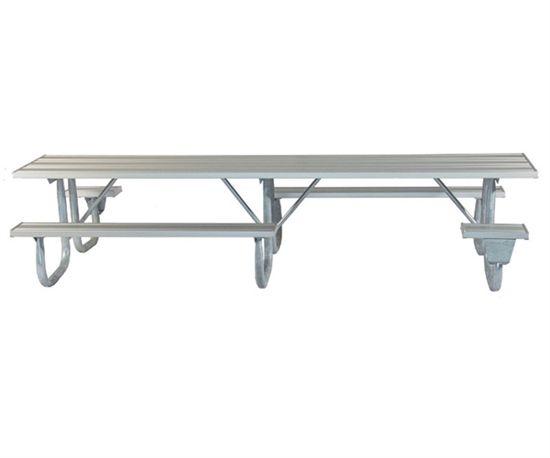 Ada Frame Kit For 12 Ft Picnic Table Welded 2 3 8 Galvanized Steel Portable Galvanized Steel Picnic Table Galvanized