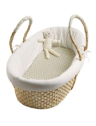 couffin d 39 appoint b b en osier tress beige clair bicolor multicolor vertbaudet enfant deco. Black Bedroom Furniture Sets. Home Design Ideas