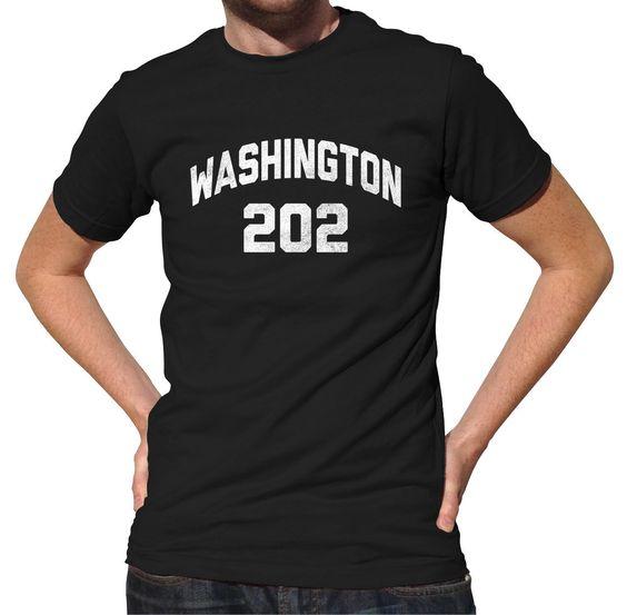 Men's Washington DC 202 Area Code T-Shirt