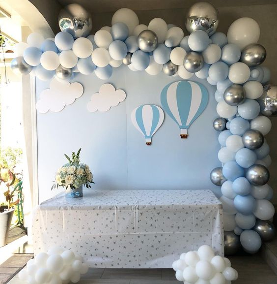 Idée de décoration baby shower garçon