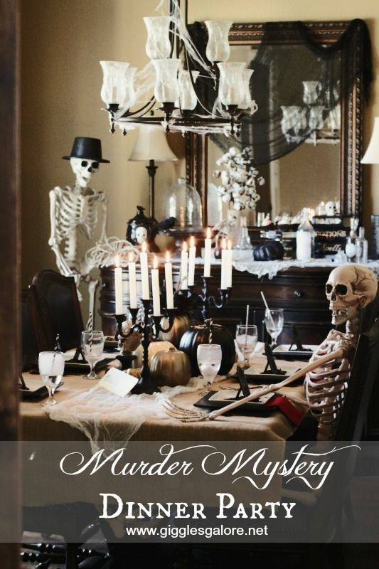 Dinner Party Games Ideas Part - 35: Murder Mystery Dinner Party Fun For The Whole Family And A Great Game To  Play @Giggles_Galore | Throwing A Halloween Party | Pinterest | Mystery  Dinner ...