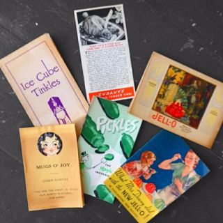 garage-sale score: pamphlets found inside old recipe book. (pickles and tinkles!)