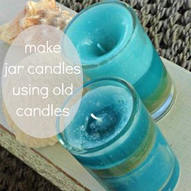 DIY info on how to reuse old candles. the space between