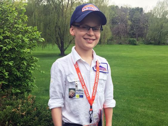 This handsome guy is Dalton, son of HVAC Install Manager Grant Granger. He proudly dressed in a Horizon Services' uniform from head-to-toe for his school's career day. Thank you Grant for sharing your enthusiasm for your job with your son (and thanks for the great picture, too!).