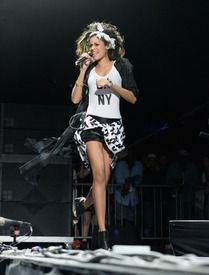 Singer Aluna Francis of AlunaGeorge performs onstage during day 3 of the 2014 Coachella Valley Music & Arts Festival at the Empire Polo Club on April 13, 2014 in Indio, California.   Source: Getty Editorial