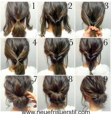 60 Einfach 5 Minuten Kurze Frisur Ideen Fur Vielbeschaftigte Damen Neueste Frisuren Hochsteckfrisuren Lange Haare Braune Haare Frisuren Frisur Hochgesteckt