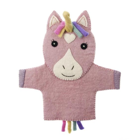 Our handmade, fair trade Felt Unicorn Hand Puppet will make playtime magical!