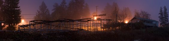 Mad Mouse rollercoaster night panorama -- by Joe Reifer  #sellpointpinit
