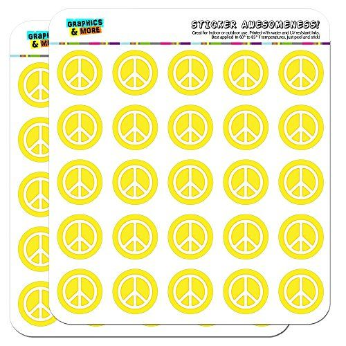 Rounded Peace Sign Symbol Yellow 1 Planner Calendar Scra Https