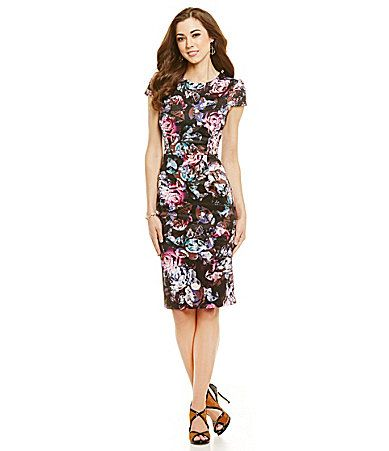I am picky about florals, but love this dress; the sleeve length, the shape, skirt length.
