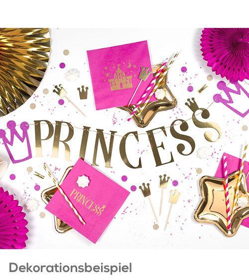 Banner-Set Princess Prinzessin Party-Dekoration pink gold Buchstaben Krone