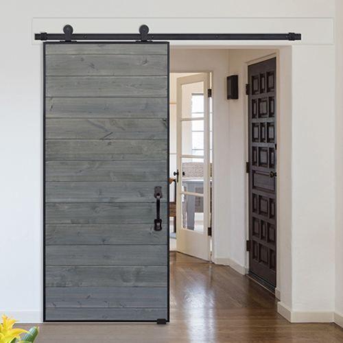 Horizontal Iron Plank Barn Door 2 Doors Barn Door Double Barn Doors