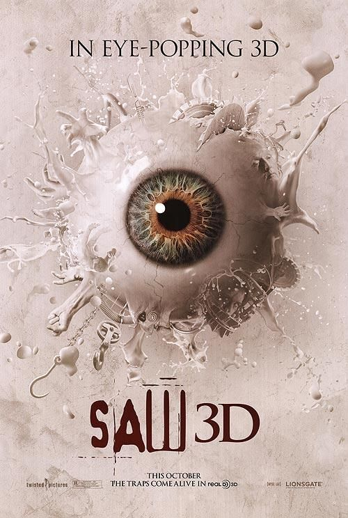 Saw 3d In 2021 Movie Posters Best Movie Posters 3d Poster