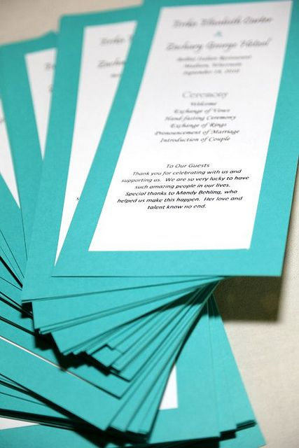 One Page Wedding Program Template | Wedding - Programs | Flickr ...
