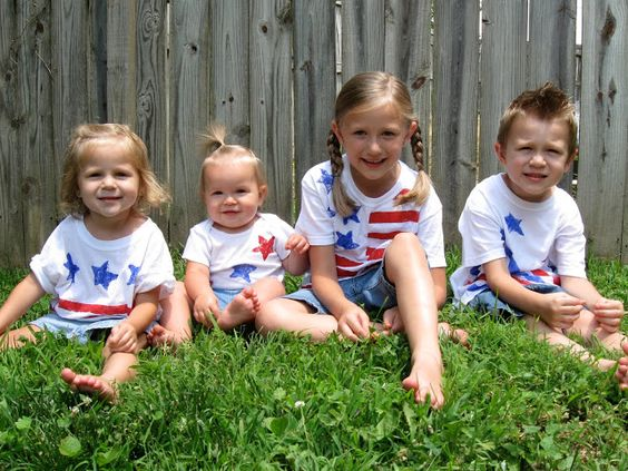 The Family Scientista: Hand Painted Flag Shirts