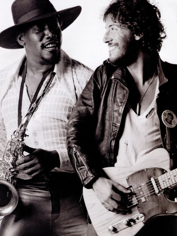 Bruce Springsteen & Clarence Clemons. It was a great day when The Big Man joined the band.