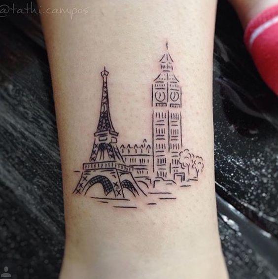 Big Ben Londres. Torre Eiffel Paris
