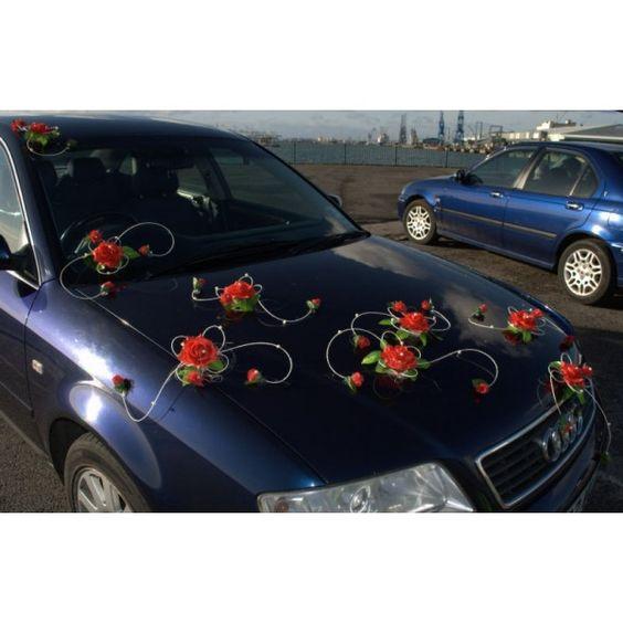 mariage fleur decoration voiture arabesques arc cercle sur http - Decoration Capot Voiture Mariage