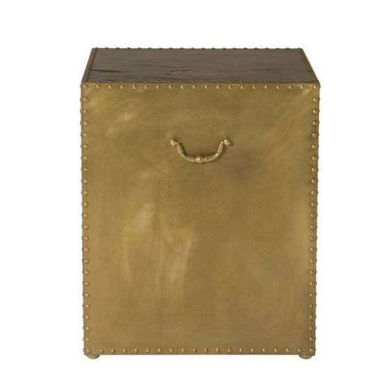 Argos Side Table - Brass studded side table