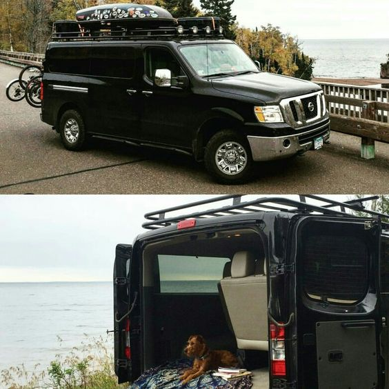 Nissan NV With Aluminess Roof Rack