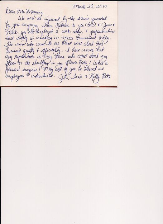 Thank you letter from Tabithau0027s Place Customer Thank You Letters - customer thank you letter
