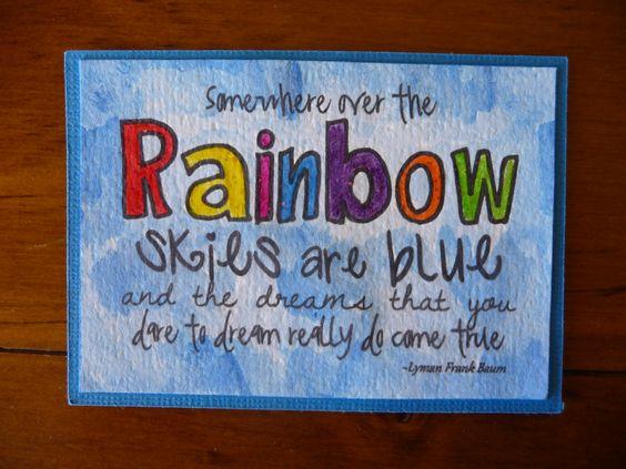 Rainbow ATC (inktense pencils)