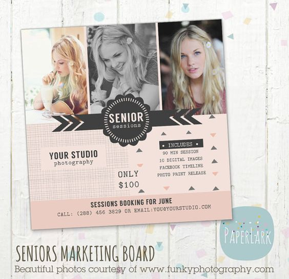 Senior Photography Marketing - Photoshop template - IS002- INSTANT ...