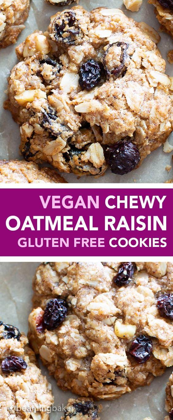 The Best Vegan Chewy Oatmeal Raisin Cookies Ever Crispy Edges