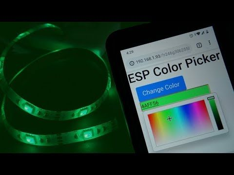 In This Project We Ll Show You How To Remotely Control A 5v Rgb Led Strip With An Esp8266 Or An Esp32 Board Using A Web Server With A Colo Projekte Technik