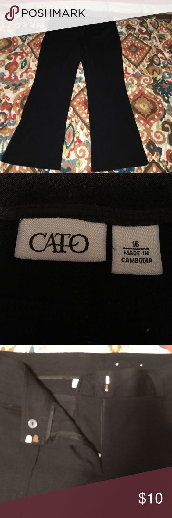 Ladies size 16 Black Dress Pants Like new! Ladies size 16 Black Dress Pants Cato Pants Boot Cut & Flare