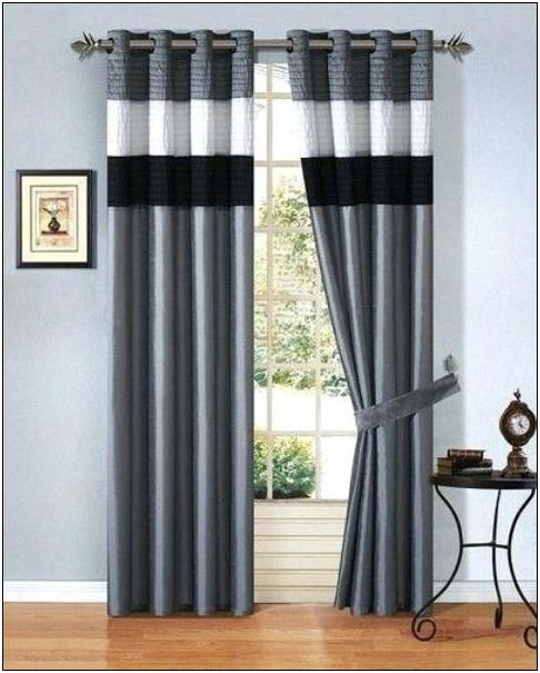 25 black and white living room curtains