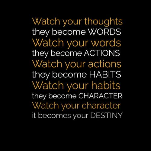 watch your thoughts they become your words poster - Google Search: