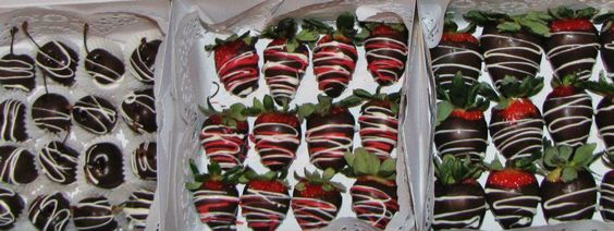 chocolate covered strawberries and cherries