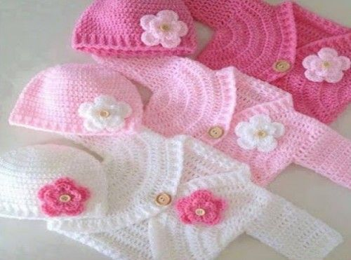 ... (Crochet For Children) Baby Sweaters, How To Crochet and Crochet