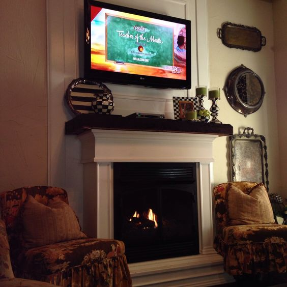 We Added A Gas Fireplace We Built This Out Of A Free