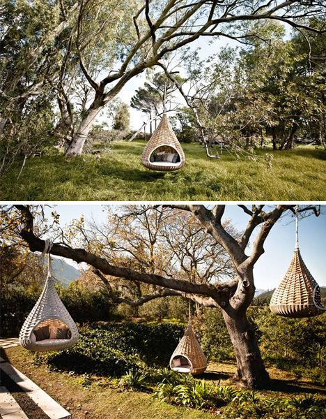 Huge bird houses for humans. How cool