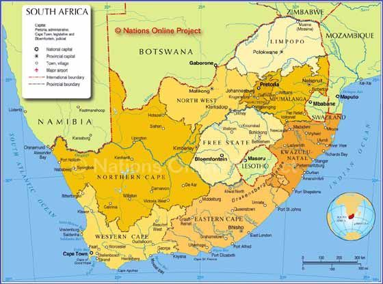 South Africa Map Pictures Detailed map of South Africa   South africa map, South africa