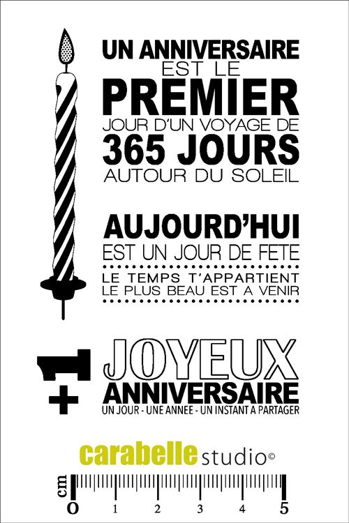 Acheter tampon carterie - tampon anniversaire - CARABELLE