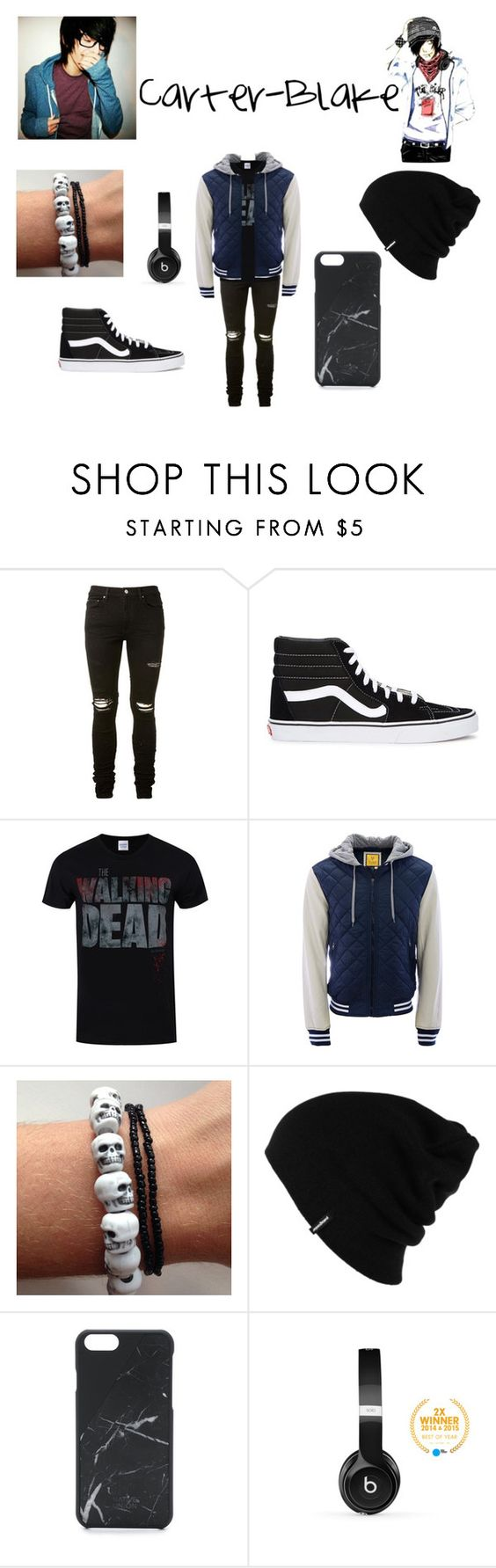 """""""Carter-Blake"""" by kya-mya ❤ liked on Polyvore featuring AMIRI, Vans, Aéropostale, Patagonia, Native Union, Beats by Dr. Dre, men's fashion and menswear"""