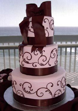 I like having some swirls that show up (not just white). Don't like this cake though...no flowers!