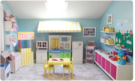 Toy Chaos: 10 Organized Yet Stylish Playrooms via Babble