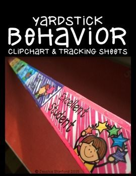 This yardstick behavior is a spin on the everyday clip chart. Putting it on a yardstick makes it more consistent, because it can travel on bathroom breaks, lunch, specials, and any where else the class travels. This product also supplies you with 12 month