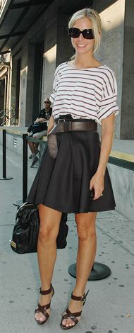 modern classic {love the relaxed tee + leather look!}