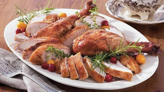 Cranberry-Orange Glazed Turkey Enjoy this roasted turkey that's glazed with cranberry and orange mixture – a perfect dinner for Thanksgiving occasion.