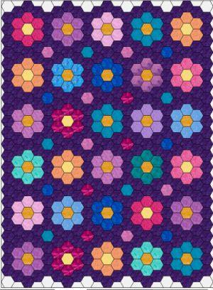 Lots of hexagon layouts