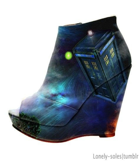 Awesome Dr. Who Heels, via The Mary Sue