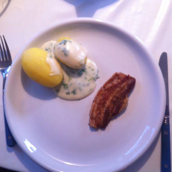 Stegt flæsk med persillesovs. Danish Dish.